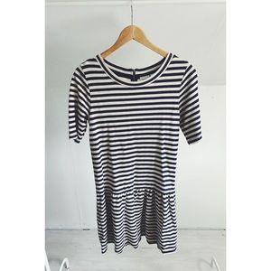 Marina Luna Drop Waist Striped Dress